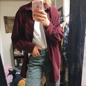oversized corduroy shirt // Hunt Club